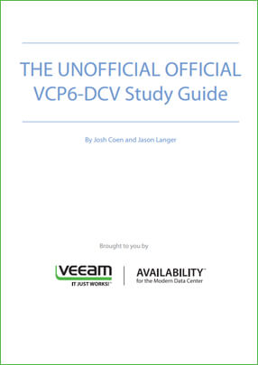 Free VCP guide for VCP6-DCV certification